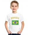 Brazilie vlag t-shirts voor kinderen