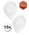 Ballonnen wit 15 stuks