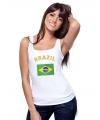Brasiliaanse vlag tanktop voor dames