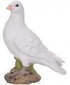 Witte duif van steen 24 cm
