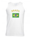 Mouwloos t-shirt met Brazilie vlag