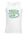 Brasil tanktop voor heren met vlaggen print