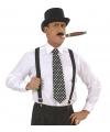 Zwart met witte stippen stropdas