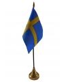Zweden vlaggetje met standaard